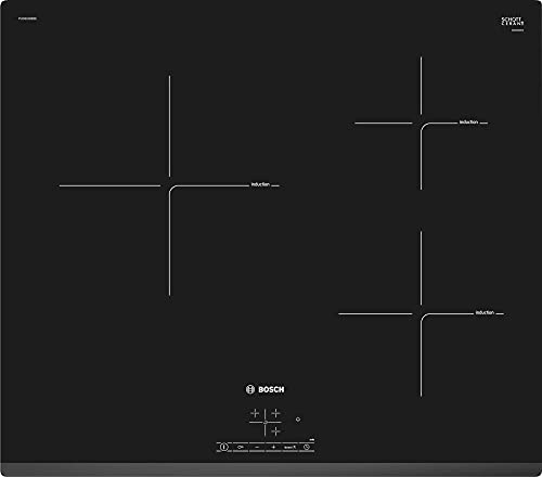 Bosch PUC631BB2E Serie | 4 - placa de inducción, 3 zonas de cocción, 60 cm, color negro