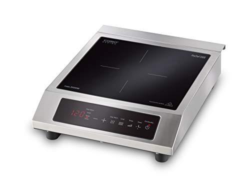 CASO ProChef 3500 - Placa de inducción portátil (3500 W, 60-240 °C, modo de mantenimiento del calor, temporizador de 24 h, ollas de hasta 26 cm, vitrocerámicas y acero inoxidable)