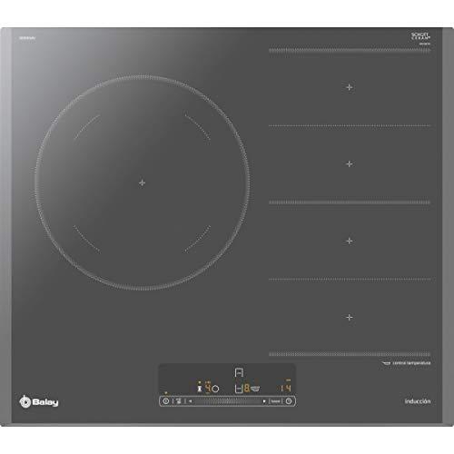 Balay 3EB969AU hobs Titanio Integrado Con - Placa (Titanio, Integrado, Con placa de inducción, 3300 W, Rectangular, 210 x 400 mm)