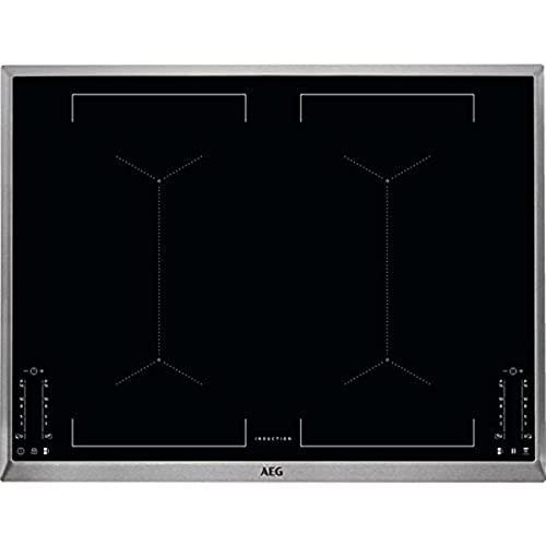 AEG Ike74451XB - Placa de inducción eléctrica (70 cm, cristal negro, con función Hob²Hood, estructura de acero inoxidable)