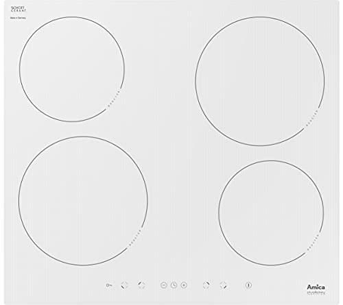 Amica 23552 Placa de inducción con 4 campos de calefacción PI6108PLU, vidrio