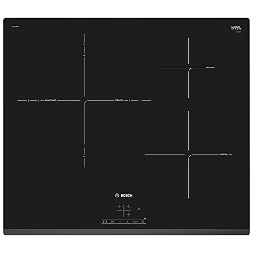 Bosch Serie | 4 PID631BB1E - Placa de inducción, 60 cm, tres Zonas de Cocción, Color Negro