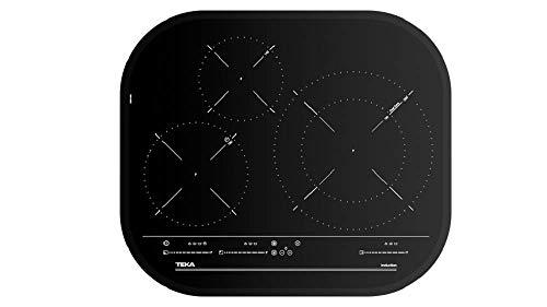 Teka Placa de Inducción Vitrocerámica, Modelo IRC 6320, 3 zonas Touch Control MultiSlider, 7300 W, 60CM