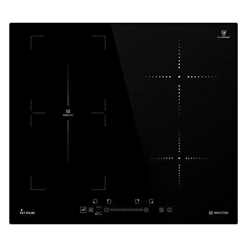 KKT KOLBE Encimera de inducción 59cm / Autárquica / 7kW / 9 pasos / 4 zonas/zona flexible/sin marco/teclas de sensor TouchSelect/amplificador/pantalla LED / IND5901FZ