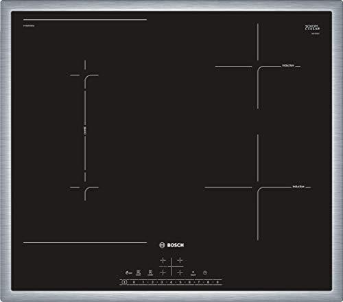 Bosch PVS645FB5E Serie 6 - Placa de inducción autónoma (60 cm, marco circular, DirectSelect, 17 niveles de potencia, PowerBoost, MoveMode, CombiZone)