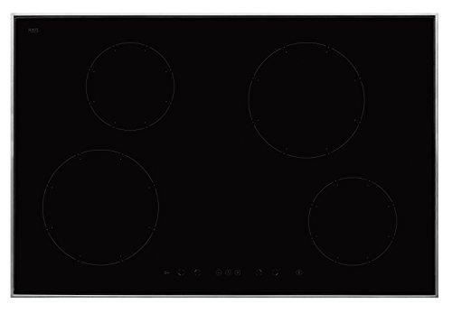 Amica KMI 13317 E - Placa de cocina eléctrica (inducción, 76,8 cm, 4 zonas de cocción de alto rendimiento, vitrocerámica), color negro