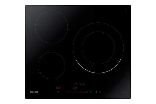 Samsung NZ63R3727BK/UR - Placa de inducción de 3 fuegos, Detector Automático de Sartén, Indicador de Calor Residual, Función de Aumento de Potencia, Control temperatura Intuitivo, color negro