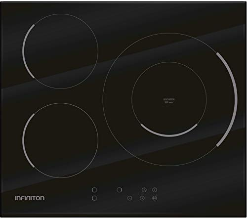 ENCIMERA INDUCCION IND-320B INFINITON (3 Zonas, Modo Boost, Touch Control, 9 Niveles de Potencia, Temporizador Individual)