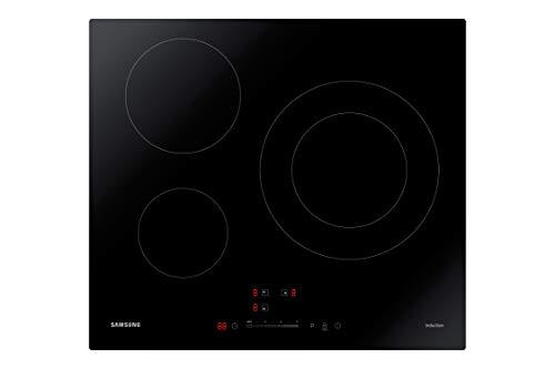 Samsung NZ63R3727AK - Placa de Inducción 3 fuegos, Panel LED, Sliding Control con 9 niveles + Boost, 7.2KW, Negro