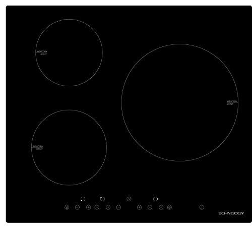 SCHNEIDER STI603/1 - Mesa de inducción (60 cm, teclas sensitivas, 7400 W), color negro