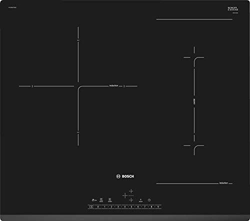 Bosch Serie 6 PVJ631FB1E - Placa de inducción, 60 cm, 17 niveles de potencia, 3 zonas de cocción, Color Negro