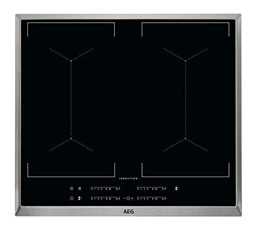 AEG IKE64450XB Integrado Con - Placa (Integrado, Con placa de inducción, Negro, 2300 W, 180 x 210 mm, Embellecedor completo)