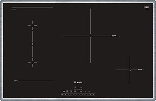 Bosch PVS845FB5E Serie 6 - Placa de inducción (autosuficiente, 80 cm, marco circular, DirectSelect, 17 niveles de potencia, PowerBoost, MoveMode, CombiZone)