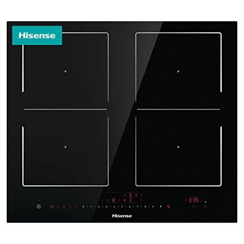 Hisense I6456C - Placa Inducción, 4 zonas, Zona Flexible, Encimera de 60 cm, bloqueo infantil, Resistente a los arañazos, terminación biselada