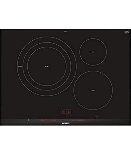 Siemens EH775LDC1E iQ300 - Placa de inducción, 70 cm Ancho, 3 Zonas Inducción, 17 niveles, Control lightSlider, Color negro
