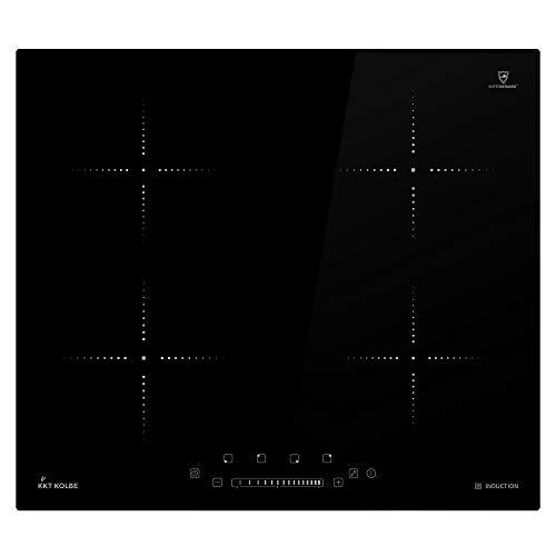 KKT KOLBE Placa de inducción 59cm / Autárquico / 6kW / 15 pasos / 4 zonas/Sin marco/Táctil/Pantalla LED / KF5900IND