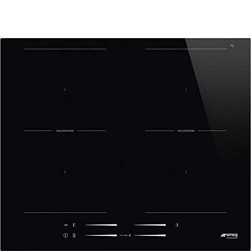 Smeg SI2M7643D hobs Integrado Con - Placa (Integrado, Con placa de inducción, Vidrio y cerámica, Negro, 3200 W, 21 cm)
