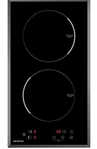 ENCIMERA INDUCCION IND-230 INFINITON (2 Zonas, Modo Boost, Touch Control, 9 Niveles de Potencia, Temporizador Individual)