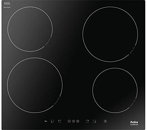 Amica 23551 Placa de inducción con 4 campos de calefacción PI6508PLU, vidrio