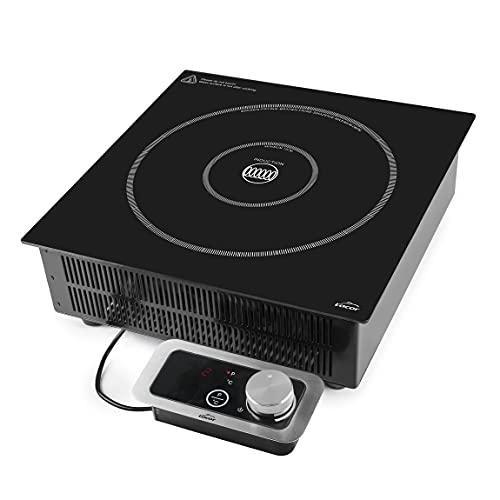 Lacor - 69371 - Placa Inducción Portátil Pro, Cocina Portátil Profesional, Sistema IPX3, 10 Niveles de Potencia, Apta para Diámetros entre Ø12 cm y Ø28 cm, 3500W, Negro