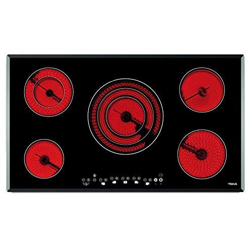 Teka Placa Vitrocerámica, Modelo TR 951, 5 zonas, Touch Control, Negro, 90x51x5.1 cm