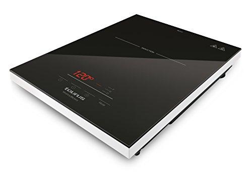 Taurus PI410 Placa de inducción portátil, 2000 W, Cristal, Negro