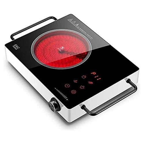 Portátil eléctrica Placa de inducción Estufa de onda de luz de escritorio Cocina de inducción Cocina silenciosa Cocina de inducción multifunción Cocina de inducción impermeable (Color : White)