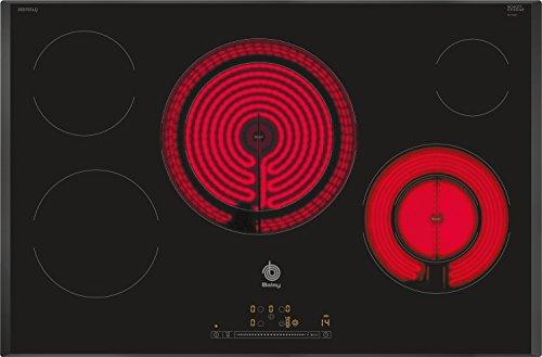Balay 3EB785LQ - Placa vitrocerámica, 5 zonas de cocción, zona extra gigante, 80 cm, color negro