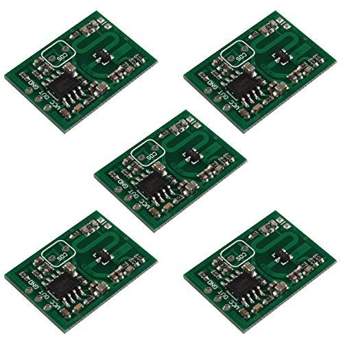 HALJIA Módulo de sensor de radar de microondas RCWL-0515 interruptor de módulo inteligente de placa de inducción humana