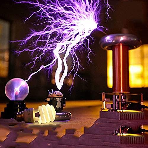 EWGAO Bobina de Tesla de música Arco de inducción Arco de 20 cm de Largo Bobina de Tesla Altavoz de Plasma Kit de Bricolaje Modelo de Experimento de transmisión inalámbrica para Estudio